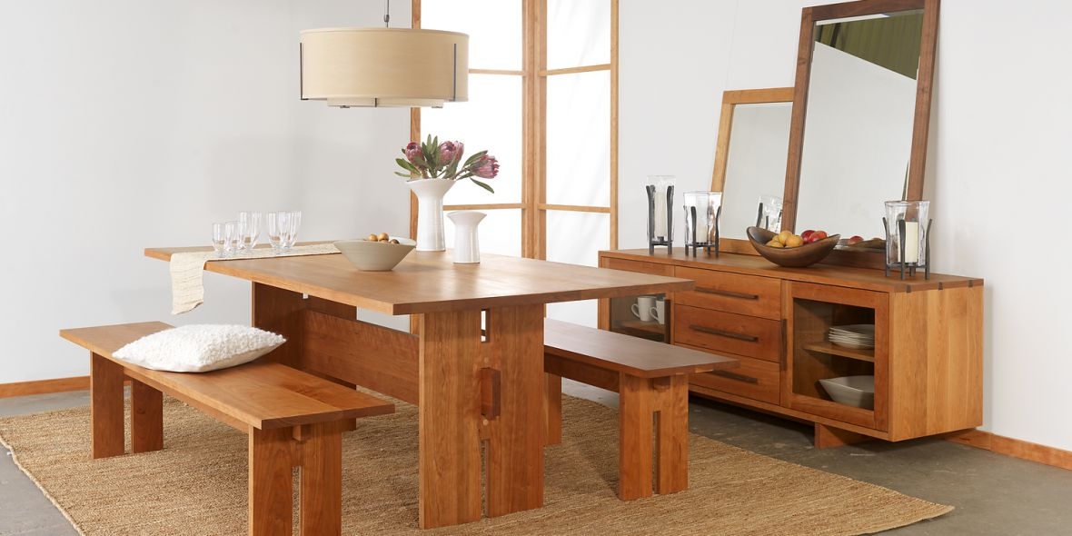 Winslow Table & Benches by Vermont Furniture Designs