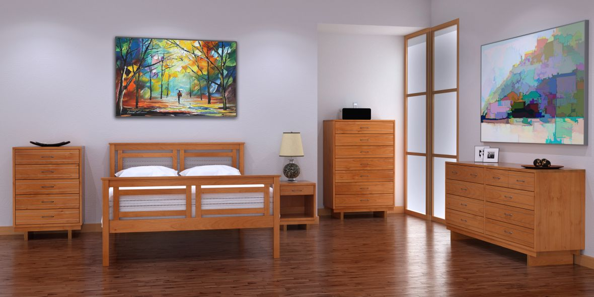 Cable Crossing Bedroom by Vermont Furniture Designs